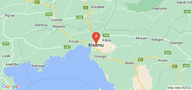 map of Kisumu, Kenya